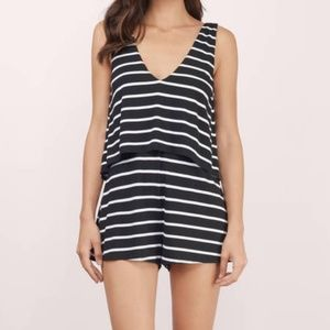 TOBI Sail With Me Shift Tiered Romper